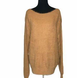 Callahan Ginger Fuzzy Ultra Soft Boat Neck Sweater